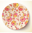 Bright colors flower pattern on plate vector image vector image