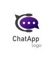chat app logo vector image