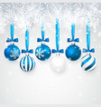 christmas and new year background with blue vector image