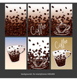 Coffee smartphone backgrounds vector image