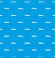 cruise ship pattern seamless blue vector image vector image