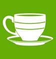 cup icon green vector image vector image
