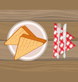 delicious tasty food cartoon vector image