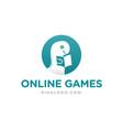 dino online games logo vector image vector image