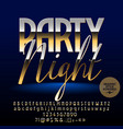 exclusive golden party night banner vector image vector image