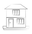 family home or two story house icon image vector image vector image