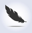 feather icon in gray colors vector image vector image