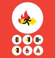 flat icon emergency set of emergency entrance vector image