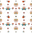 Floral ornament with cells in Hungarian style vector image vector image