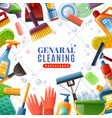 general cleaning frame vector image vector image