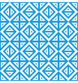 Geometric abstract blue white pattern seamless vector image vector image