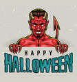 halloween colorful vintage concept vector image vector image