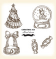 hand drawn christmas set christmas design element vector image
