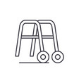 handrails for walking line icon concept handrails vector image vector image