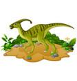 happy dinosaur cartoon vector image vector image