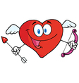 Heart Cupid With A Bow And Arrow vector image vector image