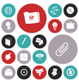 icons for business and office vector image