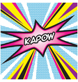 KAPOW Pop Art vector image vector image