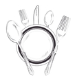 kitchen cutlery tools pattern vector image vector image