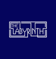 labyrinth text abstract creative business logo vector image vector image