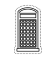 London telephone booth isolated icon vector image vector image