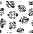 made in italy stamp seamless pattern background vector image vector image