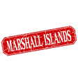 Marshall Islands red square grunge retro style vector image vector image