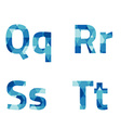 Modern Style Blue Alphabets Set vector image