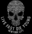 new york riders motorcycle club tee graphic design vector image vector image