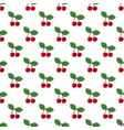 pair cherries seamless pattern on white vector image vector image