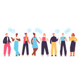 people communicate diverse character group vector image