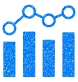 Point Chart Grainy Texture Icon vector image vector image