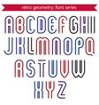 Poster elegant stripy typeset colorful vector image vector image