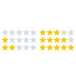 rating stars icons star rates feedback ratings vector image vector image