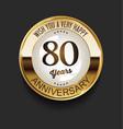 retro vintage style anniversary golden design 80 vector image vector image