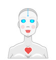 robot love vector image