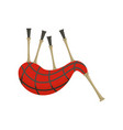 scootish bagpipes icon flat style vector image vector image