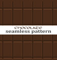 seamless chocolate pattern vector image vector image