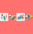 self care concept isometric icon set vector image