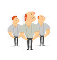 serious men workers tough guy vector image
