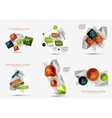 Set of fresh business abstract infographic
