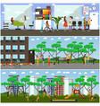 set of maternity hospital and kindergarten vector image vector image