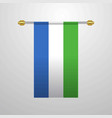 sierra leone hanging flag vector image vector image