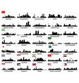 skyline of asian cities vector image