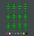 soccer formations set with different color players vector image vector image