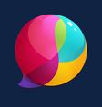 Sphere speech bubble logo vector image vector image