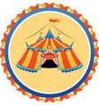 striped circus tent in frame vector image
