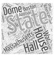 The Massachsetts State House Word Cloud Concept vector image vector image