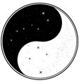 yin yang with big dipper and southern cross vector image vector image