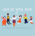 a diverse group of jumping women vector image vector image